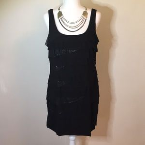 NINE WEST Layered Evening Dress
